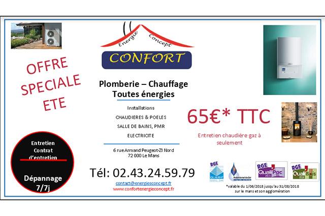Confort Energie Concept Plombier Chauffagiste Le Mans Article6